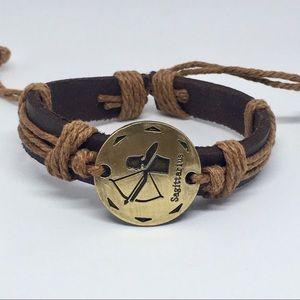 Sagittarius Zodiac Leather Bracelet